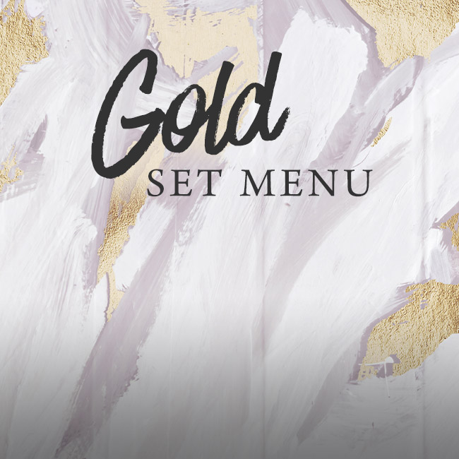 Gold set menu at The Cowper Arms