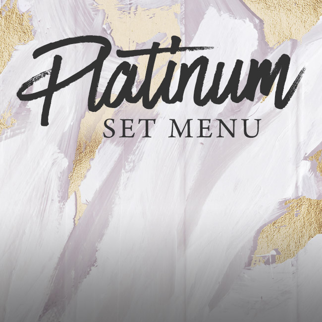 Platinum set menu at The Cowper Arms