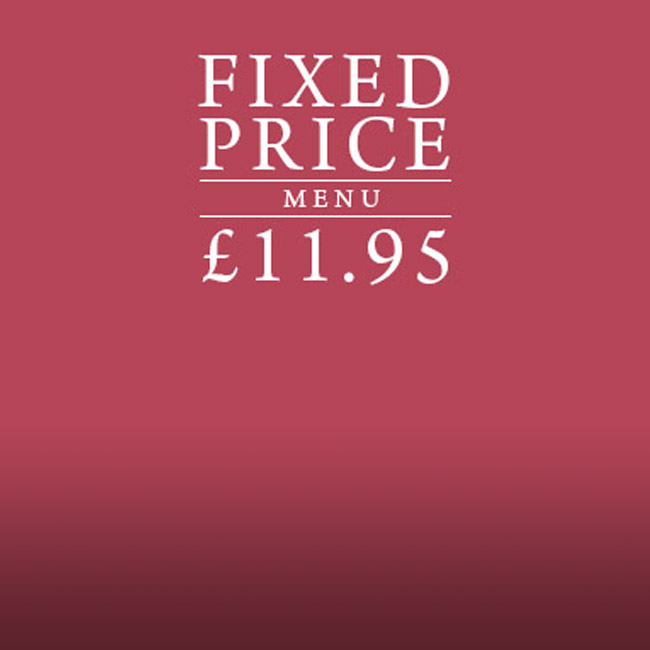 Fixed Price Menu at The Cowper Arms