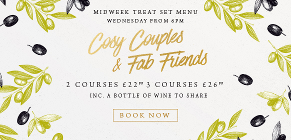 Midweek treat set menu at The Cowper Arms
