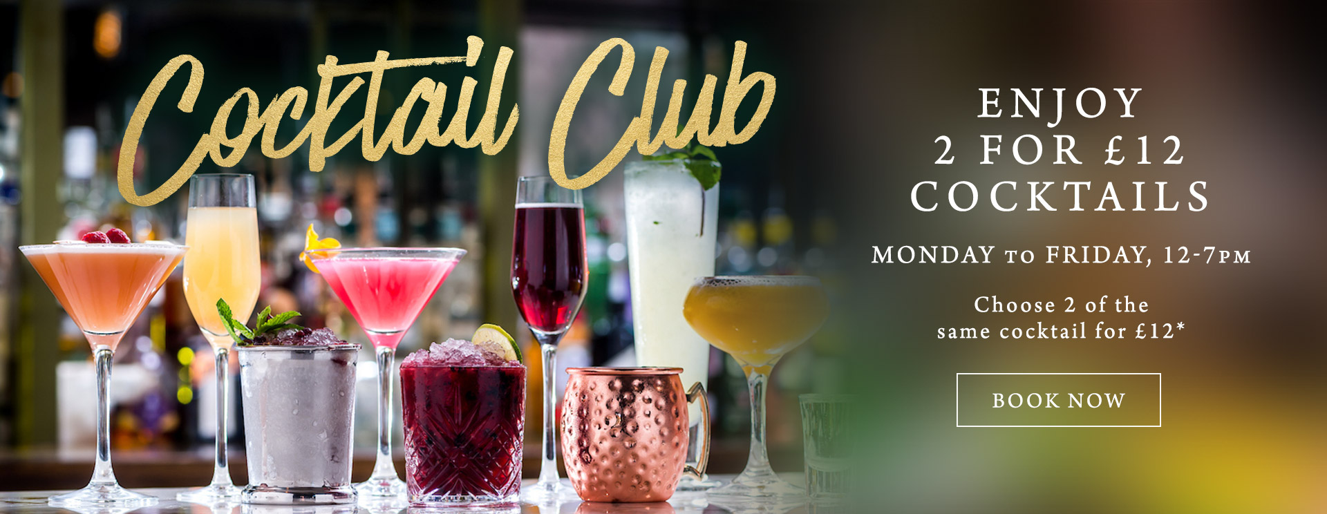 2 for £12 cocktails at The Cowper Arms
