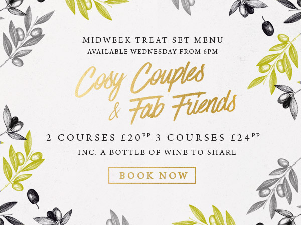 Midweek treat at The Cowper Arms - Book now